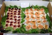 Our deluxe finger food selection includes Oak smoked salmon paninis