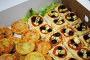 Include delicious homemade Mediterranean tarts and mini pizzas with your lunch delivery. Deliveries within a 20 mile radius of Plymouth, Devon. UK