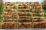 Delicious Mediterranean tarts are a favourite for larger group lunch buffets in your office or for a private occasion.
